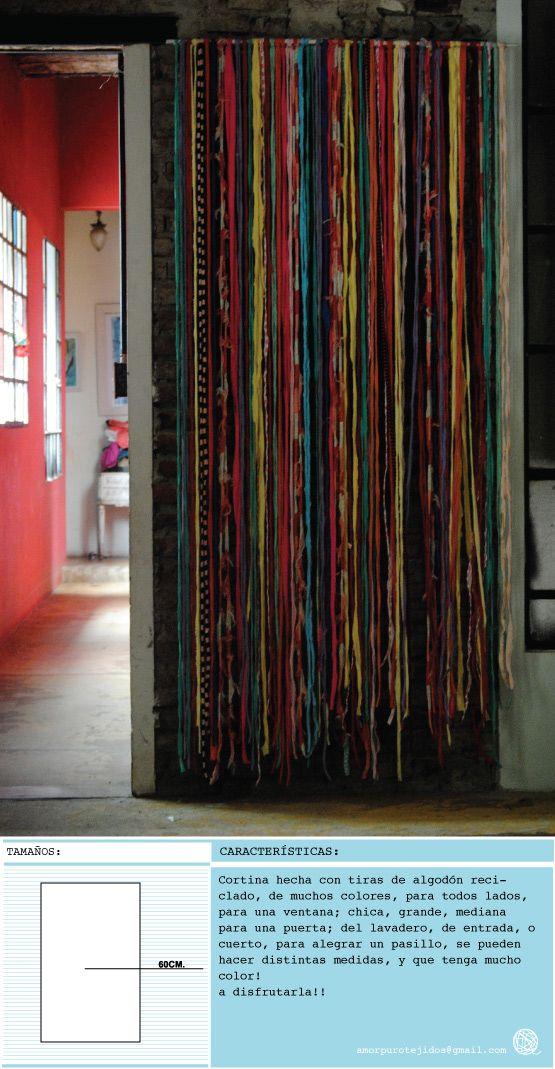 Cortina Hecha Con Material Reciclado CORTINAS Pinterest Tejidos Amor And Navidad