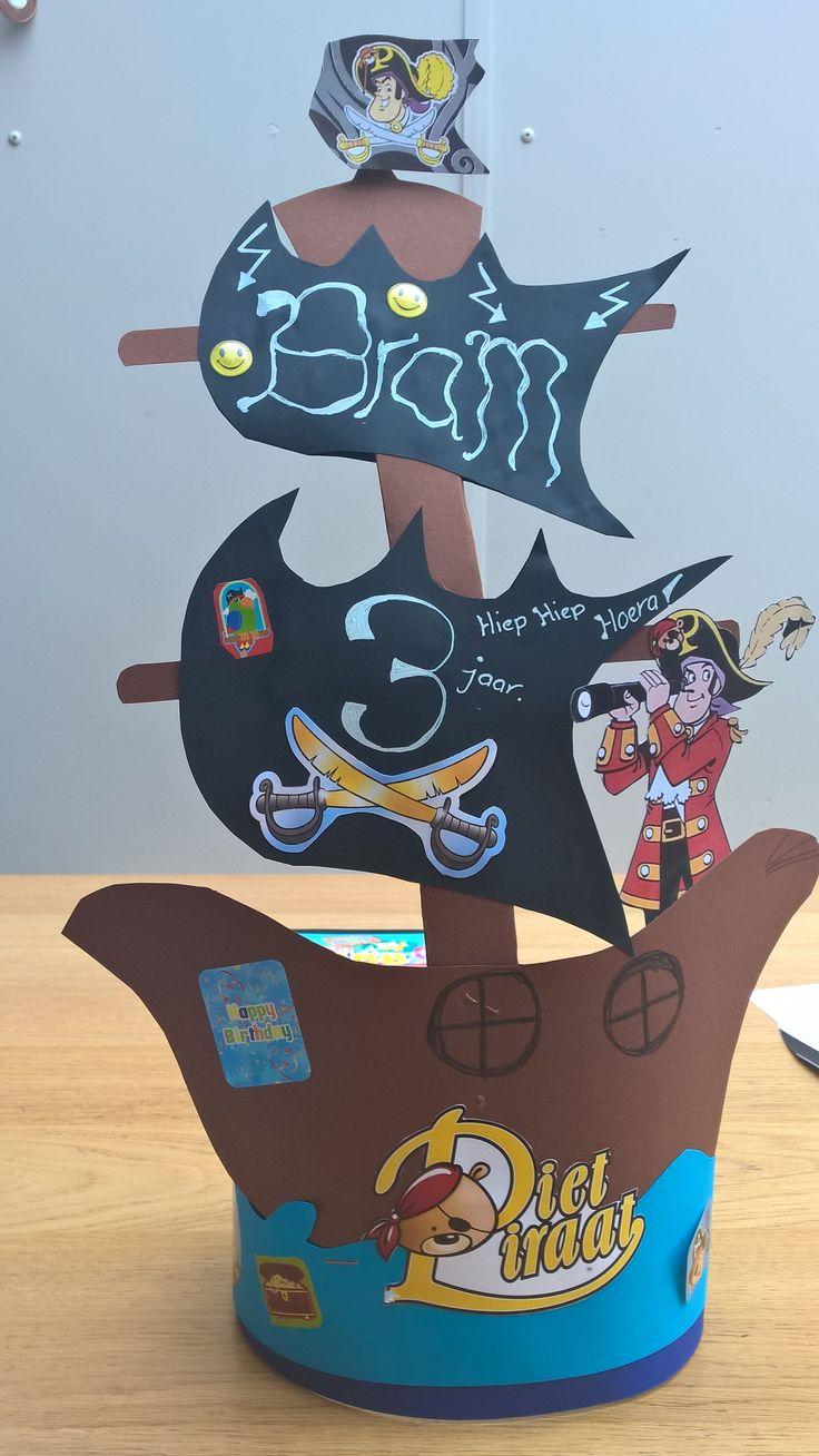 Piet Piraat Kroon  Verjaardagsmutsen  Pinterest