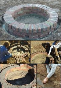 15+ best ideas about Brick Fire Pits on Pinterest | Fire ...