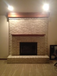 Fireplace - After Brass fireplace insert - lightly sanded ...