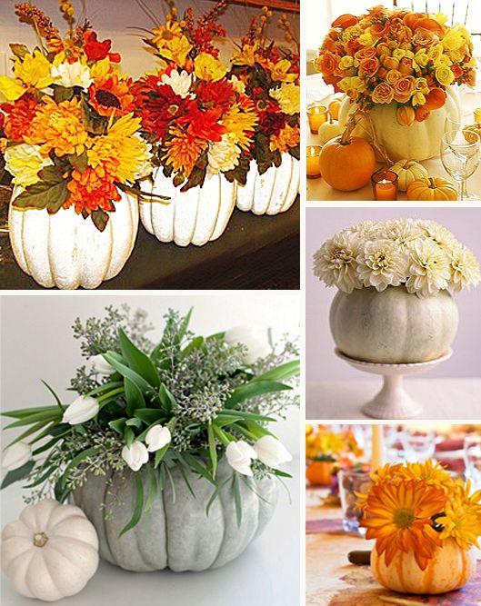 Fall Wedding Centerpieces Pumpkins