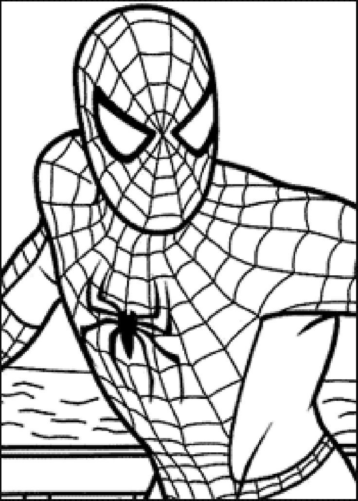 146 Best Superhero Coloring Pages Images