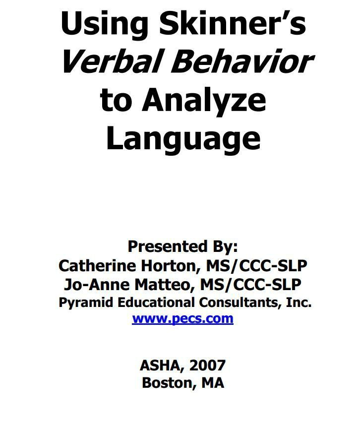 1000+ images about Verbal Behavior on Pinterest