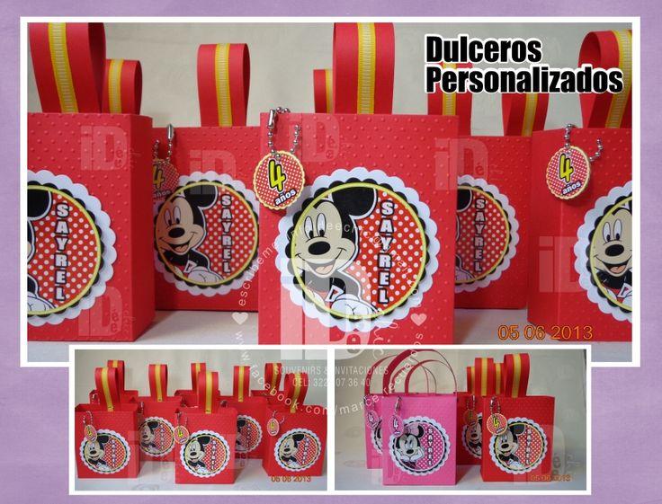 Cajitas Minnie Y Mickey Mouse Ideales Para Dar Como Bolo