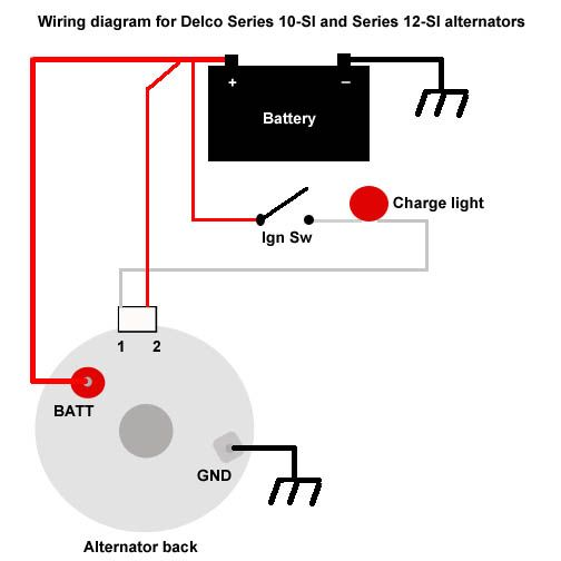 two wire alternator wiring diagram 3 Wire Alternator Diagram how to wire ignition switch for 3 wire alternator google search 3 wire alternator diagram