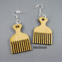 Afro pick earrings by NBsCloset on Etsy, $6.00   HOT ...