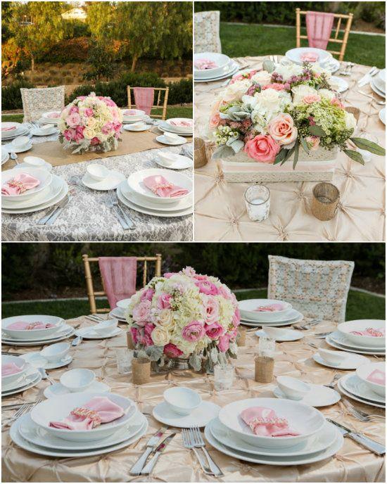 18 hochzeitstafel hochzeit dekoration tisch rosa mint gruen Hochzeitsfarben Romantisch Hochzeit