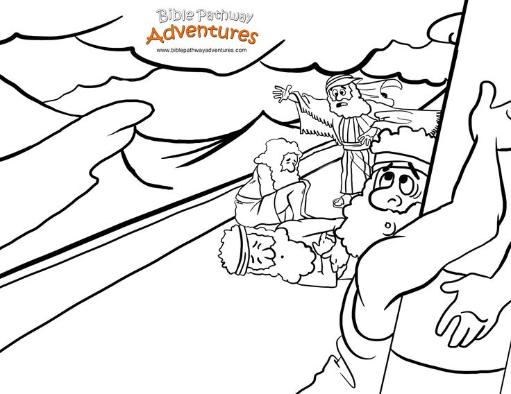 ⚓️A coloring page for kids from the story, Shipwrecked