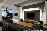 Plus Interior Design Living Room Tv Feature Wall Designs ...