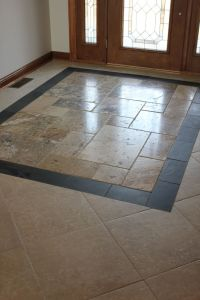 custom entryway tile design. | Tile floor pattern ...