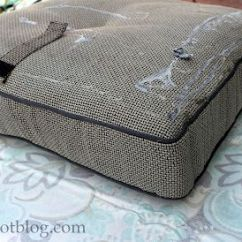How To Recover A Sofa Without Sewing Lazy No Sew Project: Your Outdoor Cushions Using ...