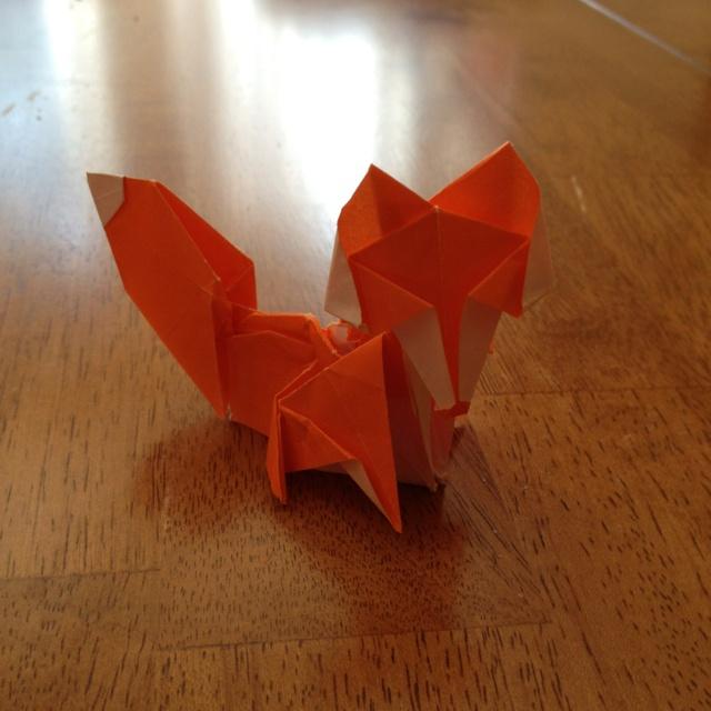 Advanced Origami Fox Instructions Diagram Gif Origami Fox