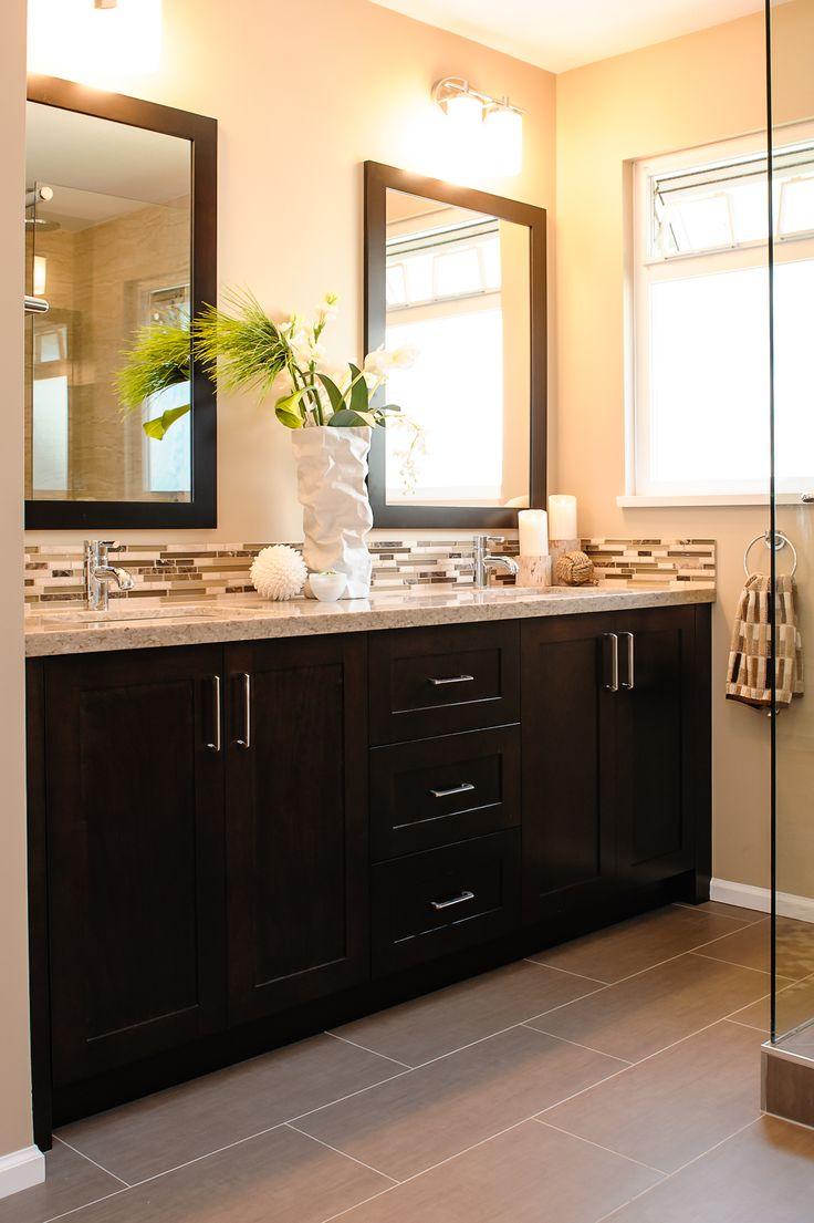 25 best ideas about Dark Cabinets Bathroom on Pinterest