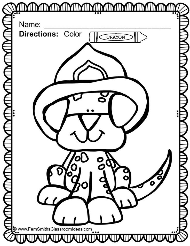 #Free Fire Station Dog Coloring Printable in the Preview