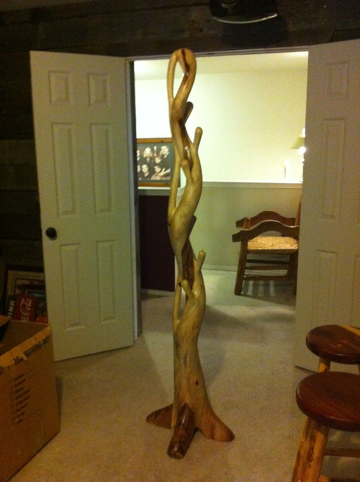 Hat and coat rack made of a tree root  My rustic  Pinterest  Coats Trees and A tree