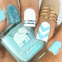 25+ best ideas about Blue wedding nails on Pinterest ...