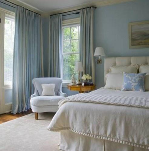 blue and cream bedroom Cream Curtains And Light Blue Walls | Curtain Menzilperde.Net
