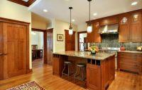paint colors for honey oak trim | mission style kitchen ...