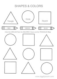 25+ best ideas about Shapes worksheets on Pinterest ...