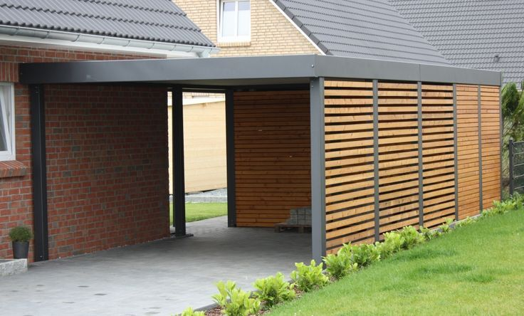 Partially Enclosed Carport Wood Attached Google Search