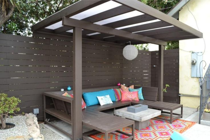 modern pergola  Patio and Deck  Pinterest  Backyards