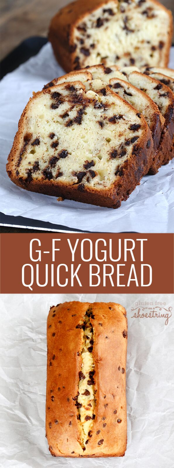 This tested recipe for gluten free quick bread is made with yogurt and chocolate chips. Super simple recip