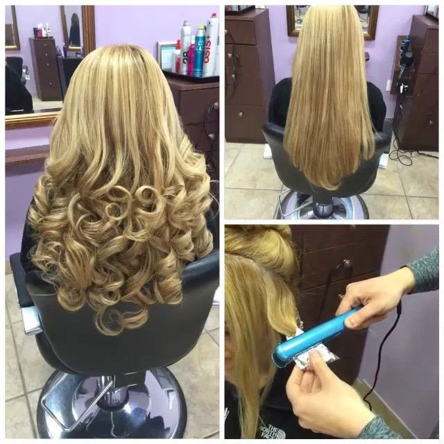 Curling Hair Using Foil Amp A Flat Iron For Less Damage