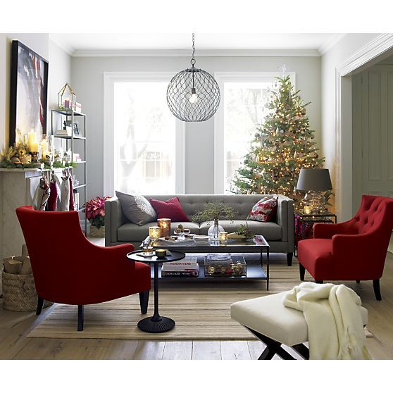 aidan gray sofa table b 205 modern red and white leather sectional set | furniture, tes crate barrel