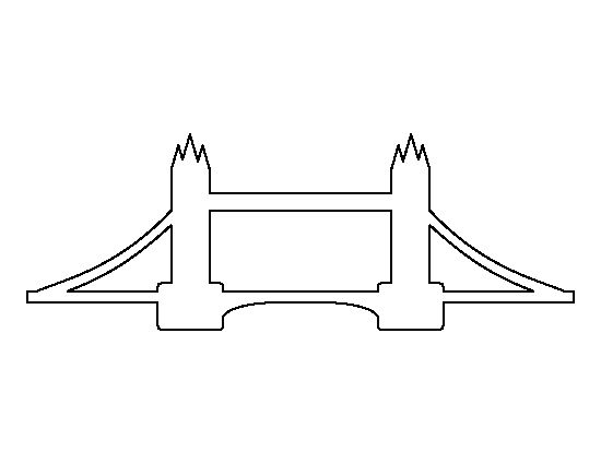 London Bridge pattern. Use the printable outline for