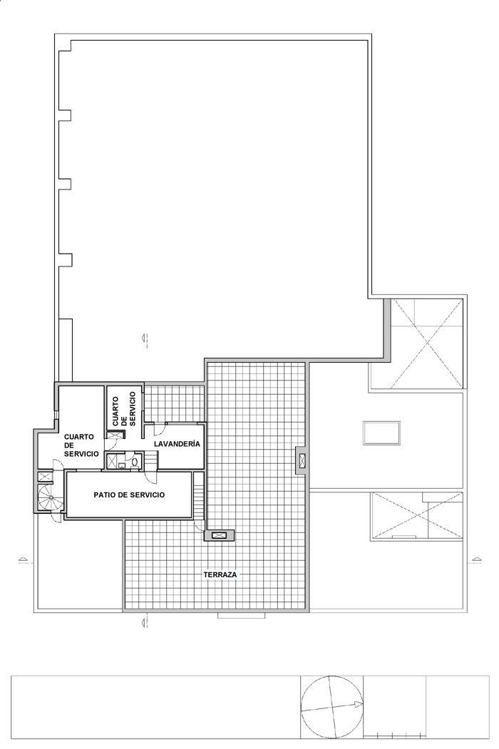 Casa Estudio Luis Barragán, plano de la tercera planta