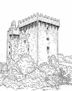 23 best images about Coloring Pages/LineArt Castles on
