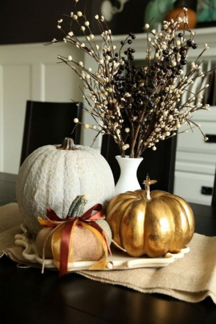 60 Amazing Pumpkin Centerpieces And Glorious Fall Decorating Ideas: