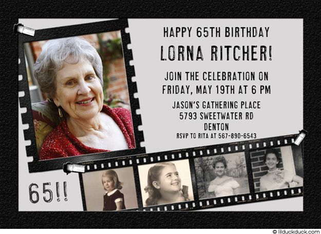 44 Best Images About 65th Birthday Invitations On