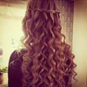 perfect waterfall twist with curls