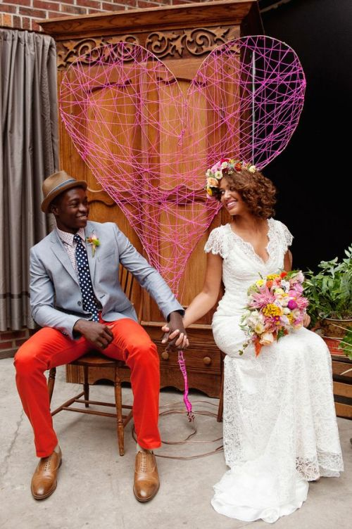 love this bride and groom's style