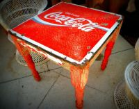 I love this old Mexican Coca-Cola table. It looks like a ...