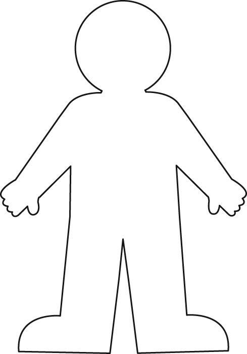 Body outline printable for use in units on all about me