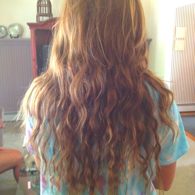 Effect After Sleeping In A Fishtail Braid Beachy Waves