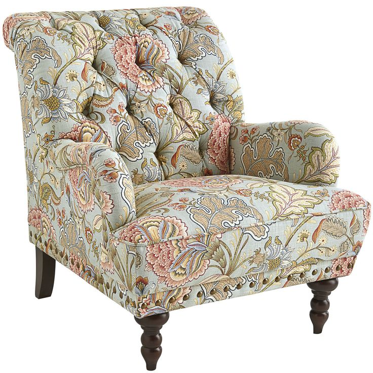 Blue Floral Armchair  The family Armchairs and Chairs