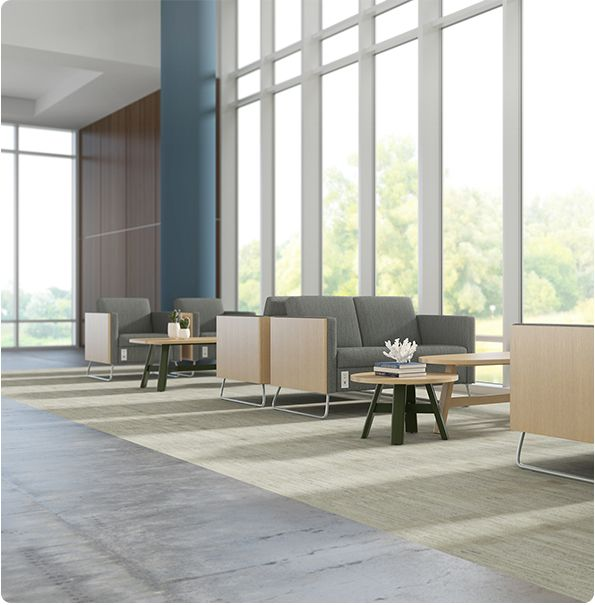 Carolina Business Furniture Y60G2 Sofas With Power Outlet