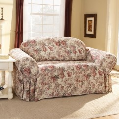 Multi Color Sofa Slipcovers Charity Peterborough Uk Sure Fit Chloe Floral Slipcover (box Cushion ...