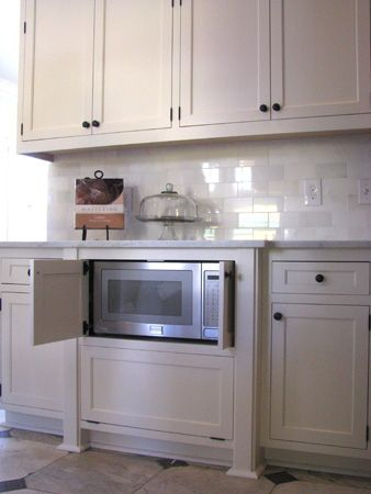 Microwaves Hidden microwave and Microwave cabinet on
