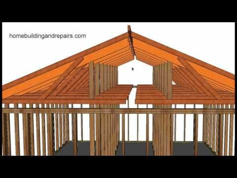 How To Convert Existing Truss Roof Flat Ceiling To Vaulted Ceiling Using Rafters Post and Beam