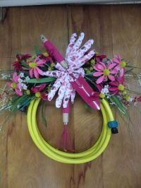 1000+ images about Garden hose wreath on Pinterest