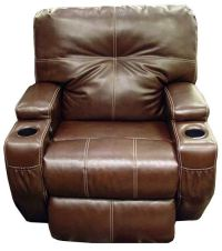 Leather Power Recliner with Cup Holders | Home Decor ...