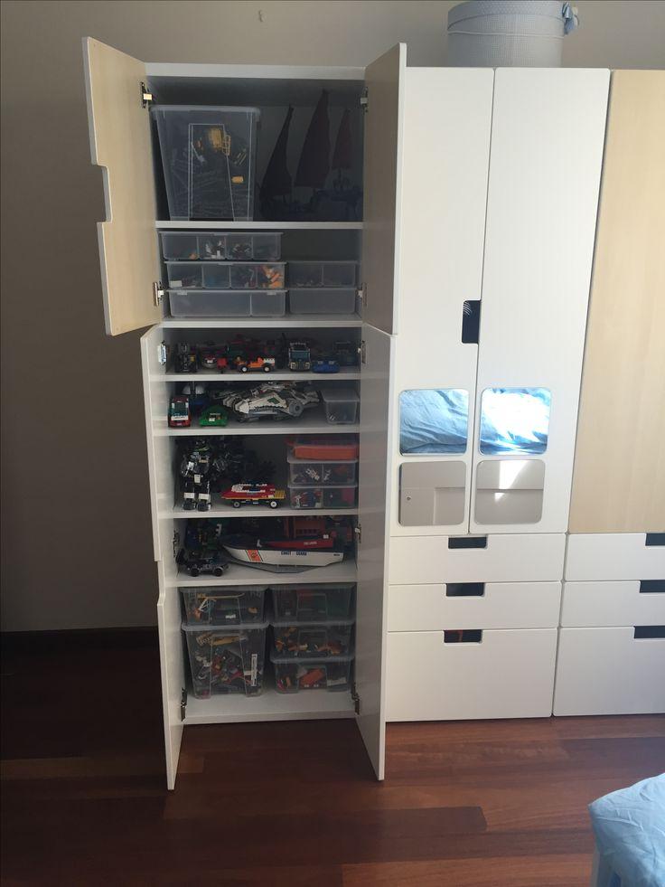 lego storage with IKEA Stuva  Lego stroge  Pinterest