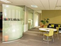 Whats design, curved glass walls | Office Fitouts ...