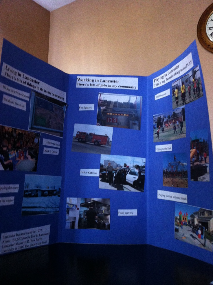 3rd Grade Community Brochure School Project Pinterest