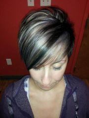 grey hair and highlights lowlights