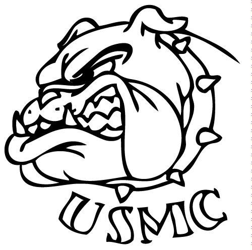marine bulldog drawings tattoos  art  pinterest